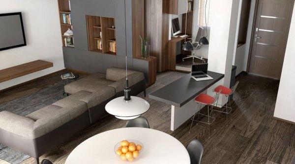 mẫu phòng khách thiết kế mở tuyệt đẹp cho căn hộ chung cư nhỏ 5