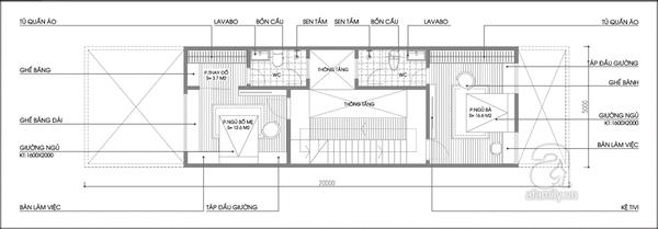 Tư vấn thiết kế và bố trí nội thất cho nhà ống có 2 khoảng vườn xanh 2