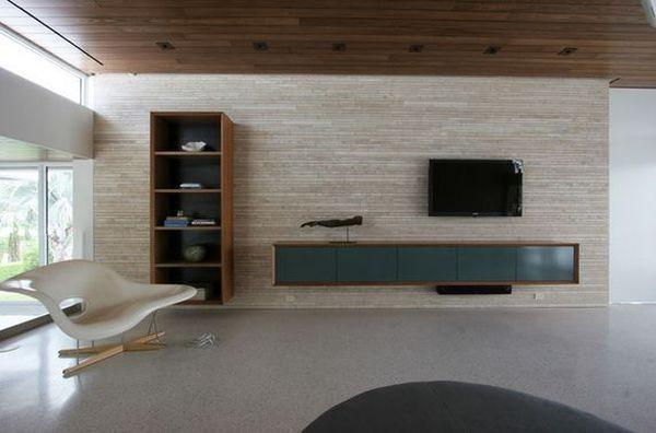 20 thiết kế kệ tivi treo tường cực đẹp 10