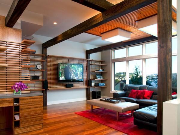 20 thiết kế kệ tivi treo tường cực đẹp 12