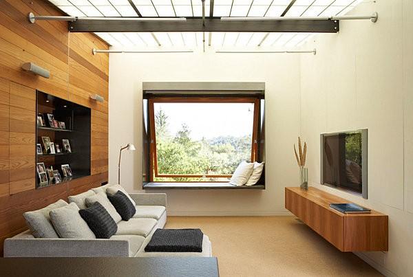 20 thiết kế kệ tivi treo tường cực đẹp 14