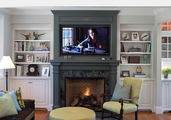 20 thiết kế kệ tivi treo tường cực đẹp 16