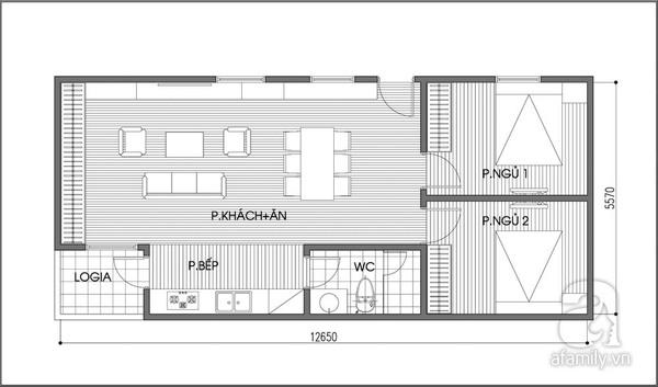 Tư vấn bố trí căn hộ 70m² cực linh hoạt với 3 phòng ngủ  2