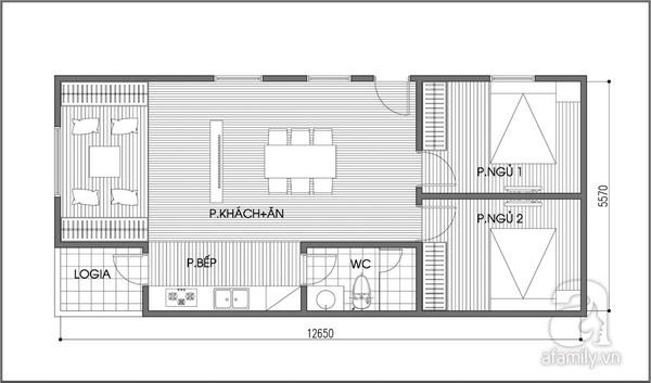 Tư vấn bố trí căn hộ 70m² cực linh hoạt với 3 phòng ngủ  3