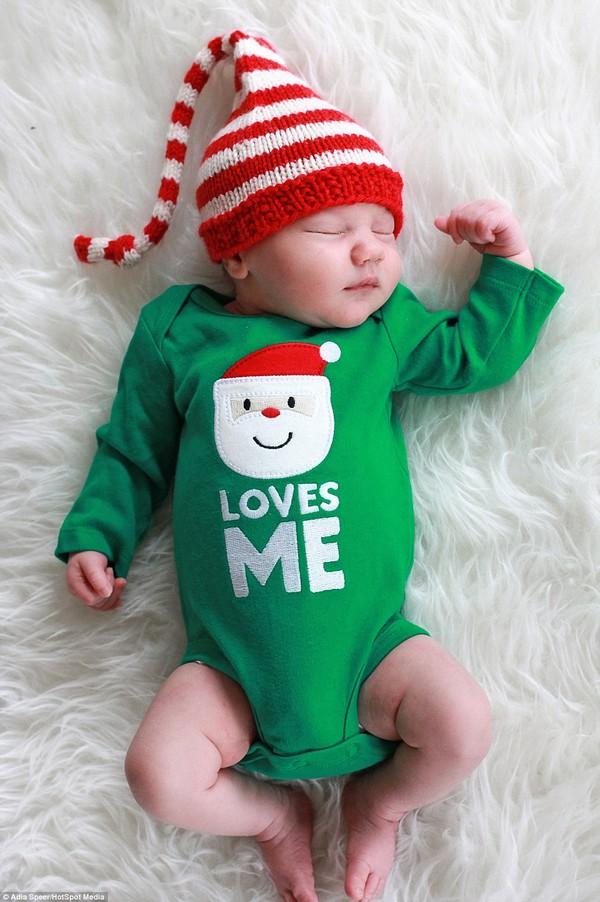 Ngây ngất với chùm ảnh bé sơ sinh trong trang phục Noel 6
