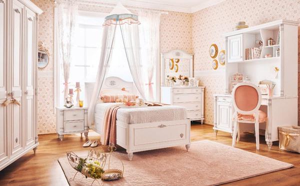 Mẫu phòng ngủ màu hồng đẹp như cổ tích cho bé gái 5