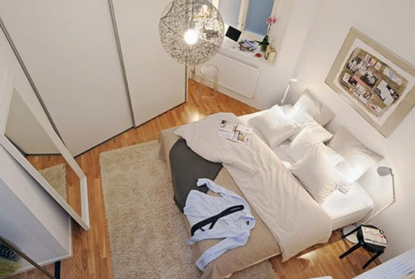 Gợi ý mẹo trang trí phòng ngủ nhỏ trở nên rộng rãi 4