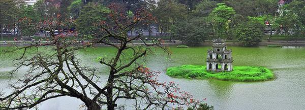 Hình ảnh độc đáo về tháp rùa hồ Gươm 12