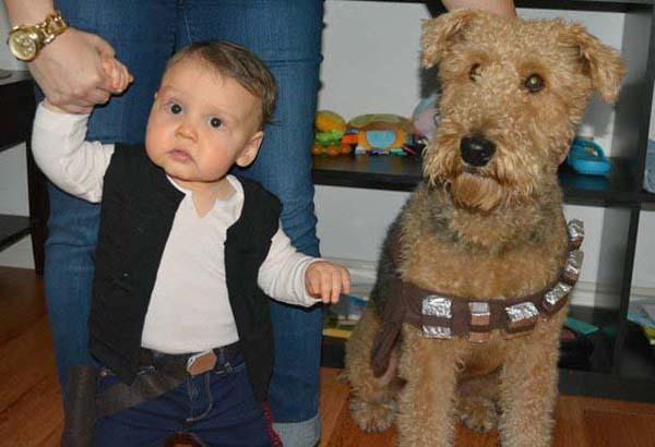 bộ ảnh bé và cún cưng 5