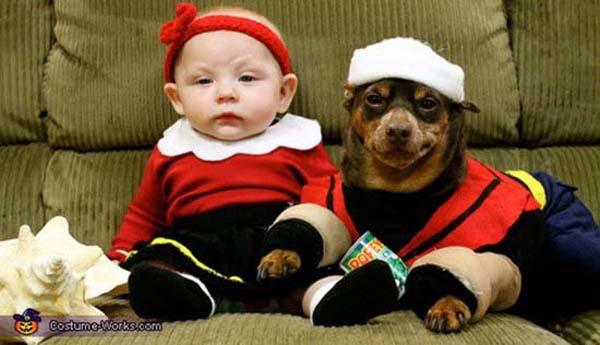 bộ ảnh bé và cún cưng 6