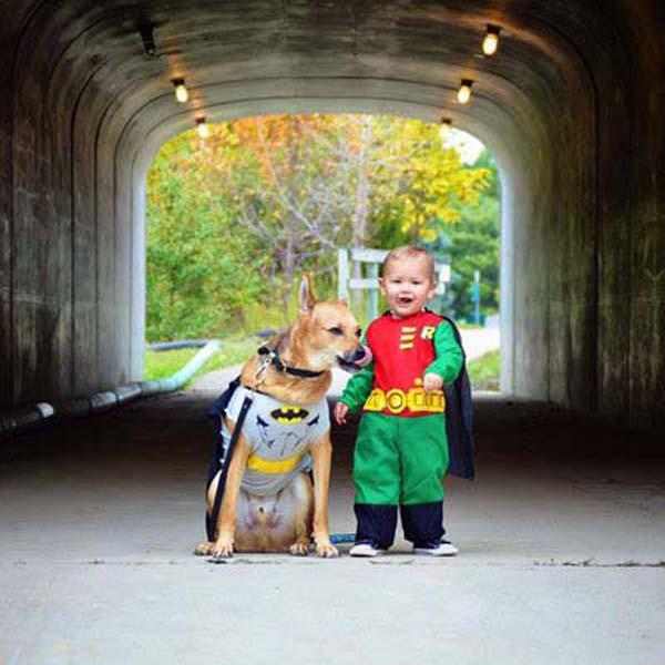 bộ ảnh bé và cún cưng 13