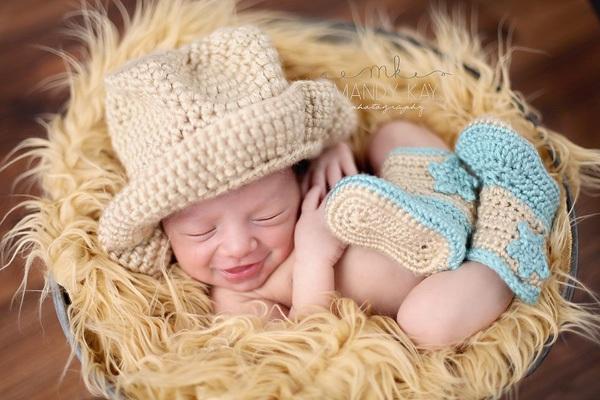 Ngất ngây với ảnh bé cười khi ngủ 7