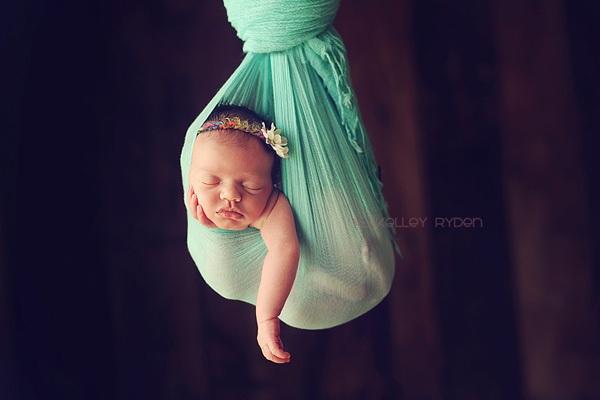 Ngộ nghĩnh những em bé ngủ treo 8