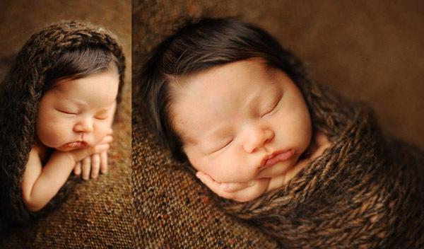 Ngắm không chớp mắt hình ảnh những em bé ngủ bên len 19