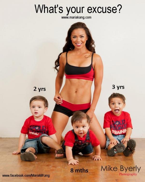Bà mẹ 3 con có thân hình tuyệt mỹ: Đừng đổ lỗi sinh con làm mẹ béo! 1