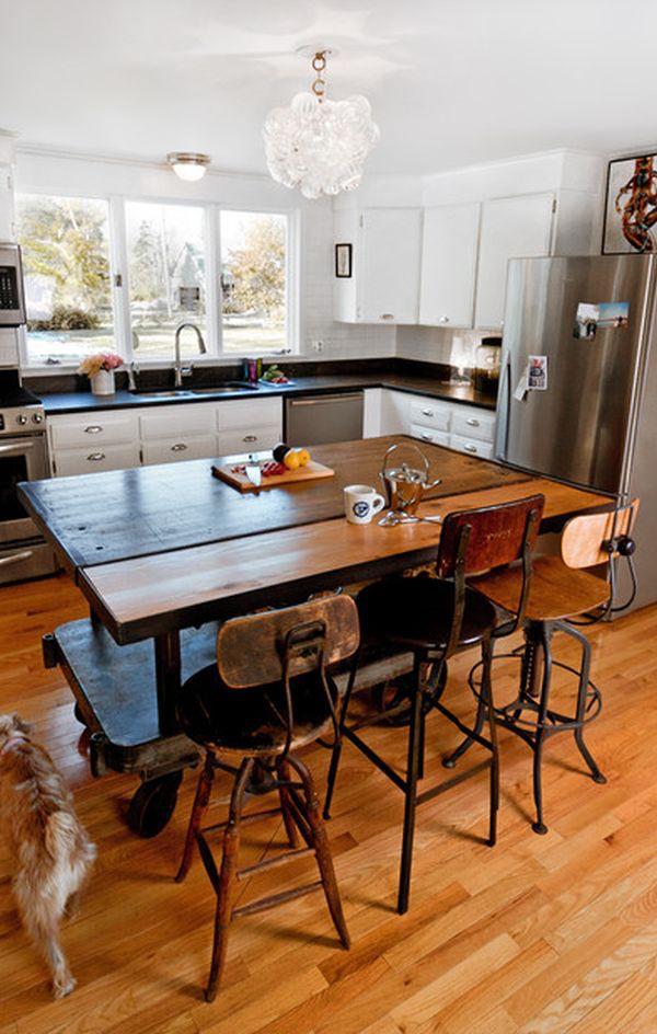 Bàn di động đa năng - nội thất tuyệt vời cho gian bếp nhỏ 2