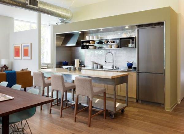 Bàn di động đa năng - nội thất tuyệt vời cho gian bếp nhỏ 3