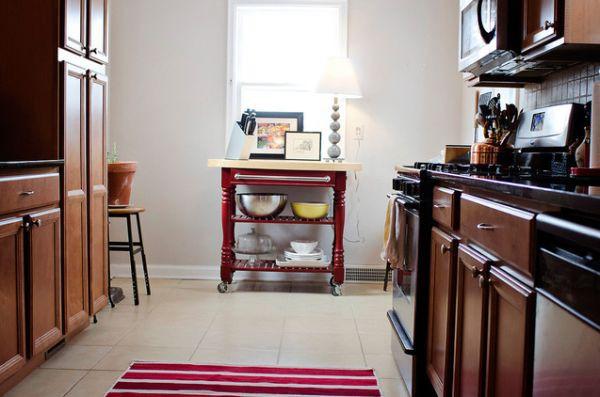 Bàn di động đa năng - nội thất tuyệt vời cho gian bếp nhỏ 7