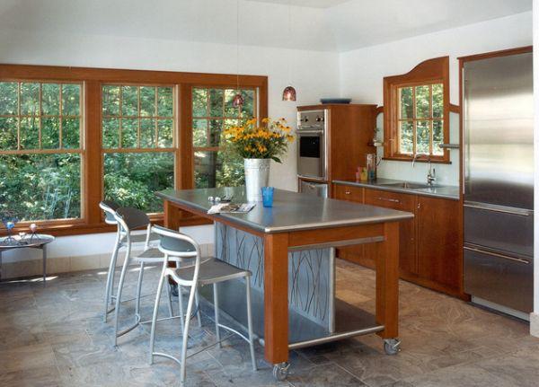 Bàn di động đa năng - nội thất tuyệt vời cho gian bếp nhỏ 1