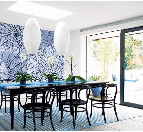 Gợi ý trang trí tường nhà với họa tiết hoa 11