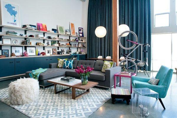 Khám phá căn hộ được bài trí tuyệt đẹp với gam màu xanh lam 2