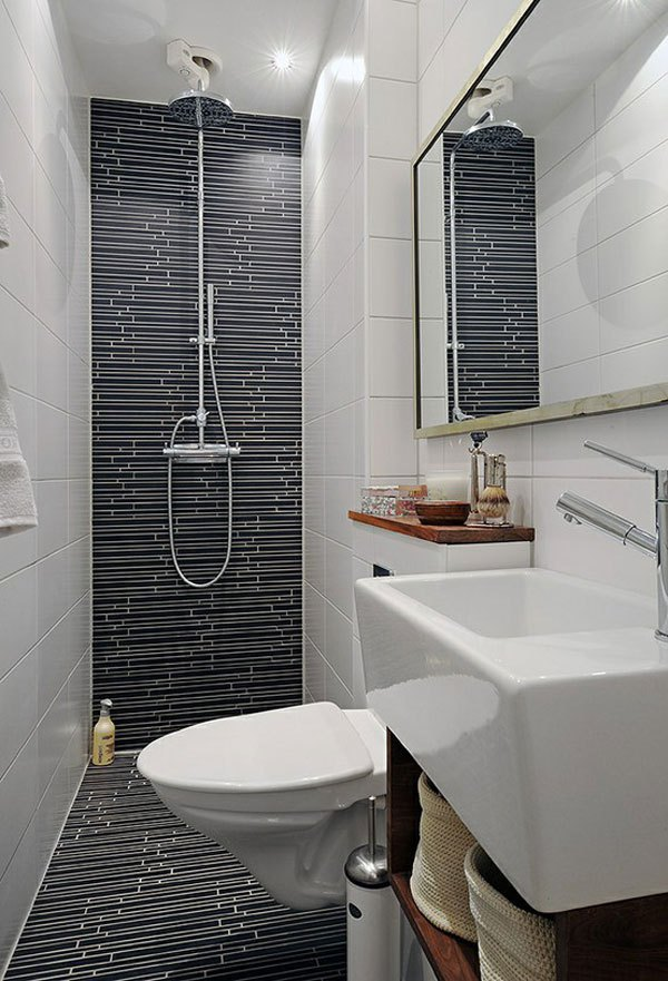 Mẹo bài trí đẹp và độc cho phòng tắm nhỏ  5