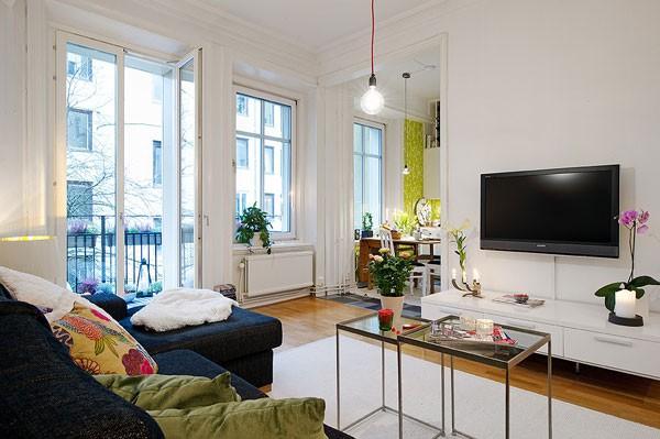 Căn hộ 56m² hai phòng ngủ tuyệt đẹp nhờ khéo bài trí 2