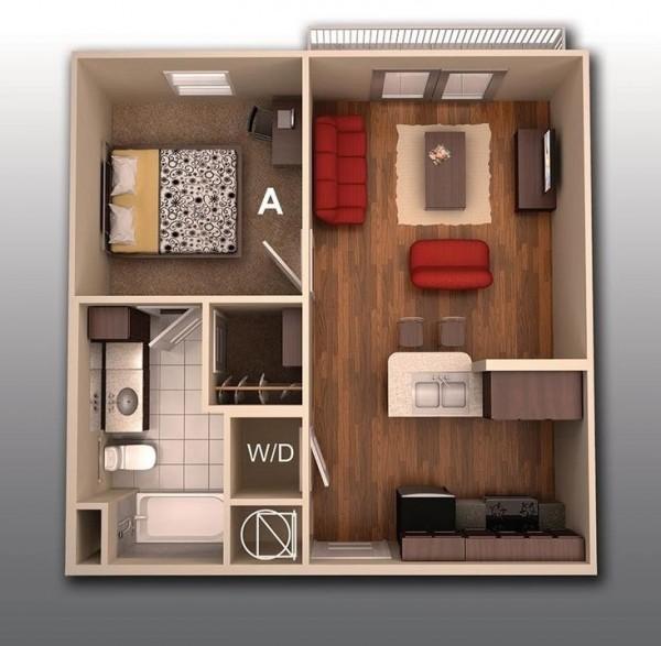 Không gian nhà tiện dụng với nội thất bài trí ấm áp.
