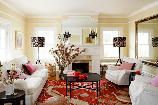 Phòng khách đẹp với bàn nước màu đen 1