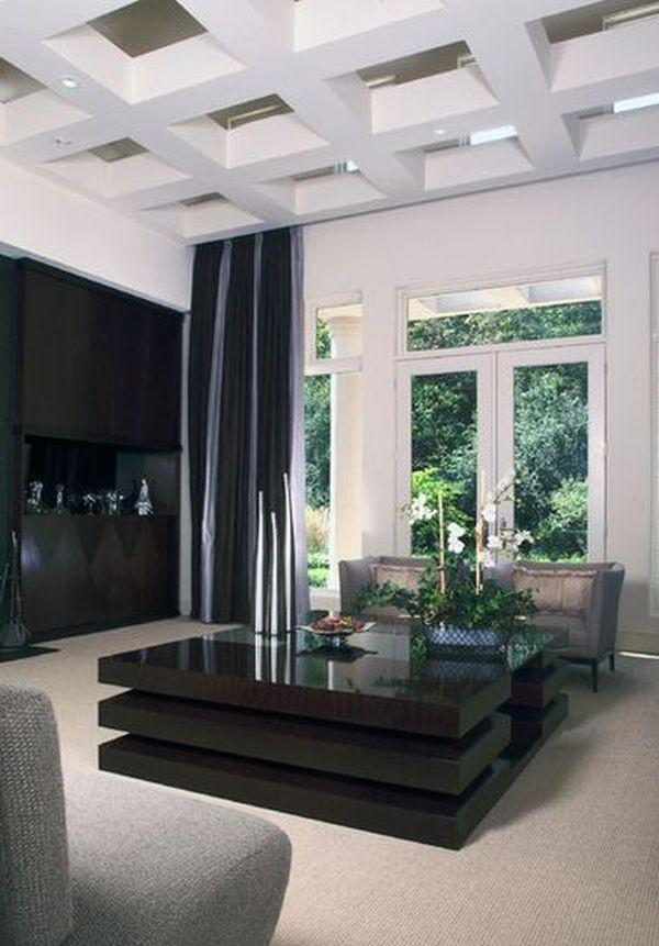 Phòng khách đẹp với bàn nước màu đen 4