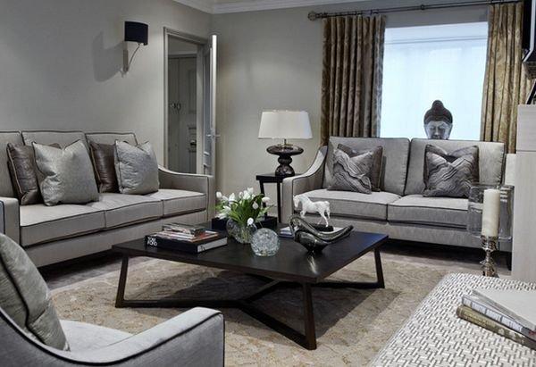 Phòng khách đẹp với bàn nước màu đen 8