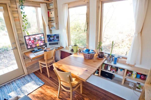 Thích thú với căn nhà 14,4m² bằng gỗ siêu tiện nghi 8