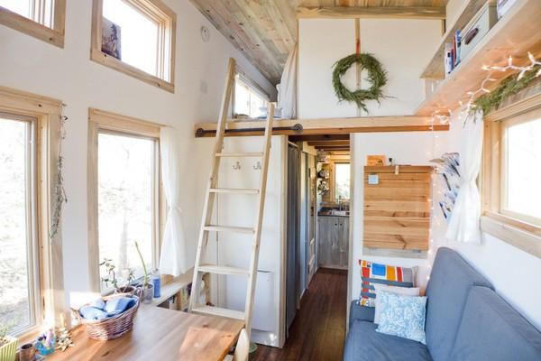 Thích thú với căn nhà 14,4m² bằng gỗ siêu tiện nghi 10
