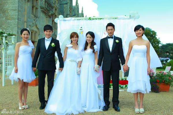Lâm Tâm Như xinh lung linh trong đám cưới tập thể 4
