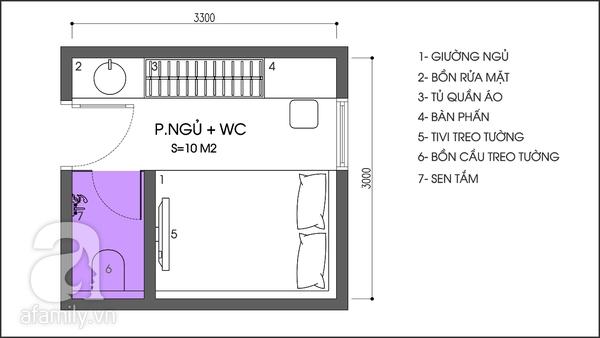 Tư vấn bố trí nội thất khoa học cho phòng ngủ 10 mét vuông 1