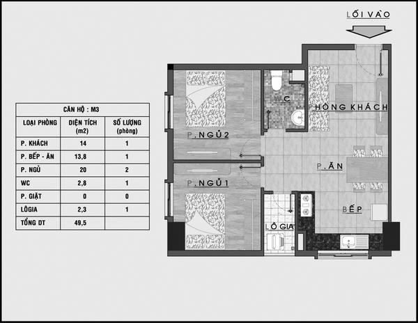 Tư vấn bố trí nội thất căn hộ 50m² cho gia đình 4 người 1