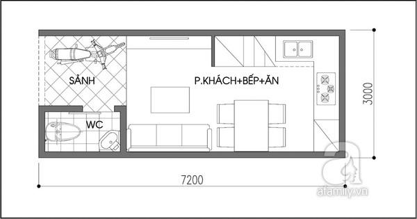 """Tư vấn thiết kế nhà 21m² """"đẹp như mơ"""" 1"""