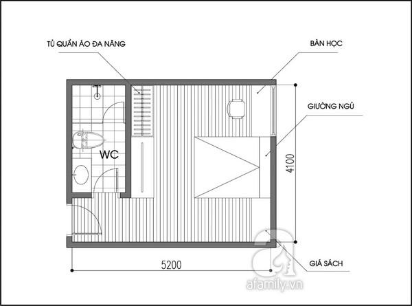 Tư vấn 2 phương án bố trí nội thất cho phòng 20m² đa năng 1