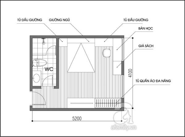 Tư vấn 2 phương án bố trí nội thất cho phòng 20m² đa năng 2
