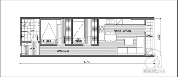 Tư vấn cải tạo và thêm phòng ngủ cho căn hộ 47,8m² 2