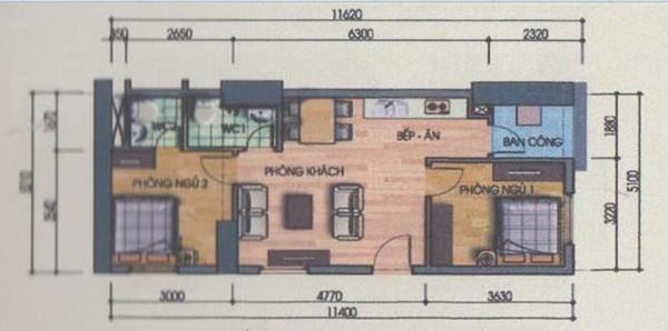 Tư vấn cải tạo nâng từ 2 lên 3 phòng ngủ cho căn hộ 60m² 1