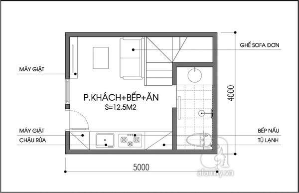 Tư vấn bố trí nội thất nhà 20m² cho gia đình có con nhỏ 1