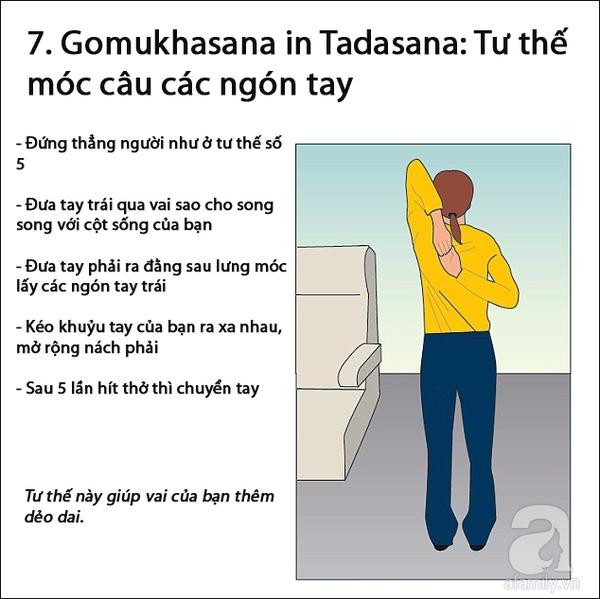 động tác yoga trên máy bay