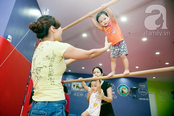 """""""Mục sở thị"""" lớp tập gym dành cho bé mẫu giáo 1"""