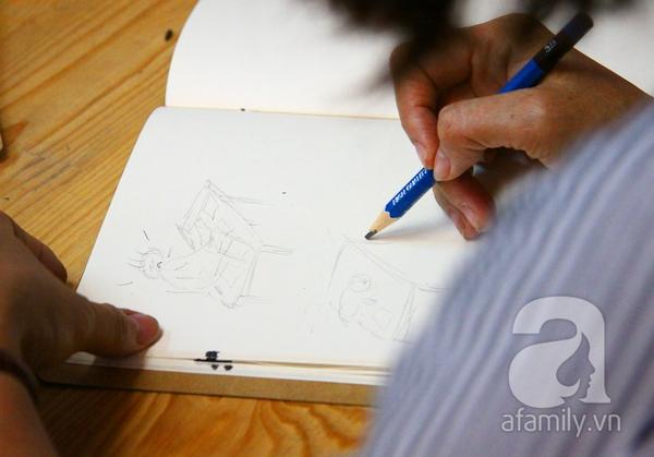 Ai cũng có thể vẽ và có một câu chuyện để kể ở lớp học Toa Tàu 9