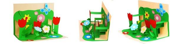 Làm thiệp sinh nhật 3D hình chiếc bánh dễ thương 9