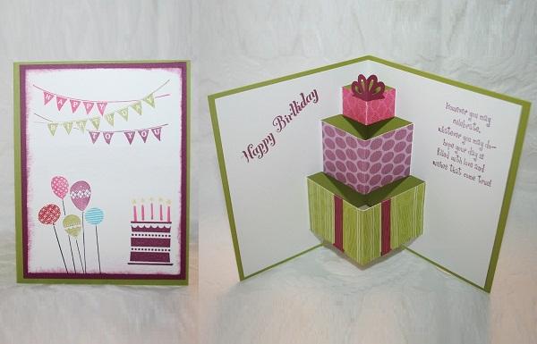 Làm thiệp sinh nhật 3D hình chiếc bánh dễ thương 1