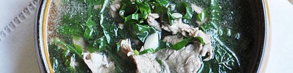 Canh rau cải thịt bò thơm lừng nóng hổi 13
