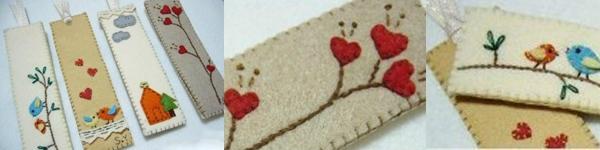 4 bước làm bookmark xinh yêu từ dây ruy-băng 9