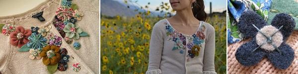 3 bước đơn giản trang trí áo len dễ thương 9